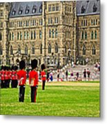 Changing Of The Guard In Front Of Parliament Building In Ottawa- Metal Print