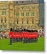 Changing Of The Guard In Front Of The Parliament Building In Ottawa-on Metal Print
