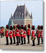 Changing Of The Guard The Citadel Quebec City Metal Print
