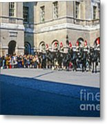 Changing Of The Horse Guard  Metal Print
