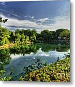 Chankanaab Lagoon Reflections Metal Print