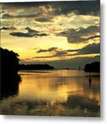 Channel To The Sunset Metal Print