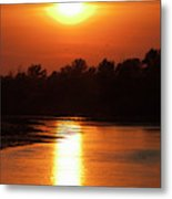 Channels And Lakes During Sunset Metal Print