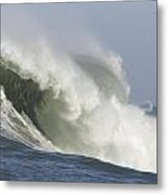 Chaos In The Surf At Mavericks Metal Print