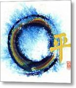 Chaos Without - Peace Within - Zen Enso Metal Print