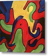 Chaotic Thought Metal Print