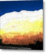Chaparra Supercell At Sunset Metal Print