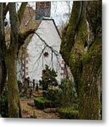Chapel And Cemetary Metal Print
