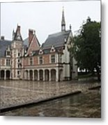 Chapel And Courtyard Chateau Blois Metal Print