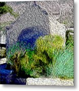Chapel At Santorini Metal Print