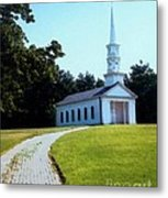 Chapel At The Wayside Inn Metal Print by Desiree Paquette