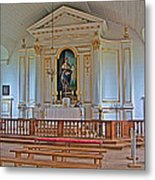 Chapel In King's Bastion In Louisbourg Living History Museum-174 Metal Print