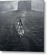 Chapel In Mist Metal Print