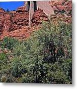 Chapel In Red Rocks Metal Print