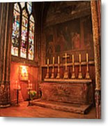 Chapel In St Severin Church Paris Metal Print
