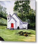 Chapel In The Mounts Metal Print