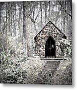 Chapel In The Woods Metal Print