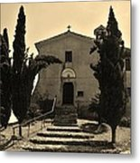 Chapel Of San Amasio Metal Print
