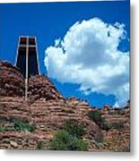 Chapel Of The Holy Cross In Sedona Metal Print