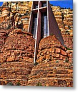 Chapel Of The Holy Cross  Sedona Arizona Metal Print