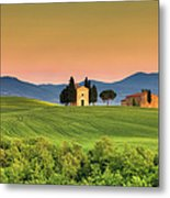 Chapel Of Vitaleta In Tuscany, Val Metal Print