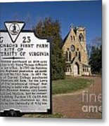 Chapel University Of Virginia Metal Print