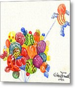 Characters In Balloon Metal Print