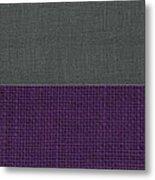 Charcoal With Purple Metal Print