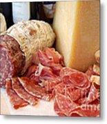 Salami And Cheese Metal Print