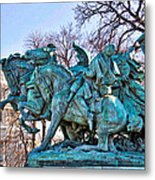 Charge On The Capitol Metal Print