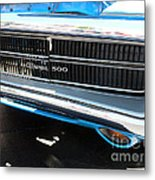 Charger 500 Front Grill And Emblem Metal Print