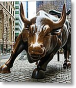 Charging Bull 1 Metal Print