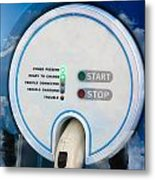 Charging Station For Electric Hybrid Car Metal Print