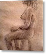 Charity Figure Drawing 3 Metal Print