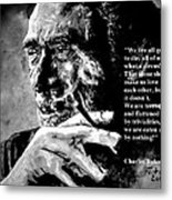 Charles Bukowski Metal Print by Richard Tito