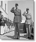Charles De Gaulle In Carthage Tunisia 1943 Metal Print
