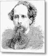 Charles Dickens, English Author Metal Print