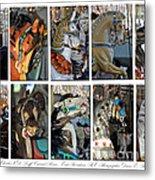 Charles Looff Carousel Ponies Metal Print