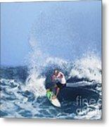 Charles Martin Pro Surfer In Hawaii Metal Print