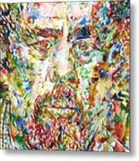 Charles Mingus Watercolor Portrait Metal Print