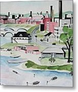 Charles River Metal Print