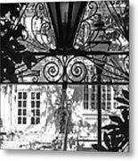 Charleston Gateway II In Black And White Metal Print