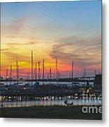 Charleston Harbor Sunset Metal Print