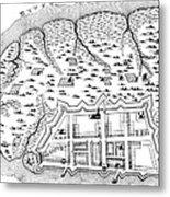 Charleston: Plan, 1704 Metal Print