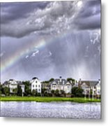 Charleston Rainbow Homes Metal Print