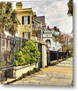 Charleston Sidewalk Metal Print