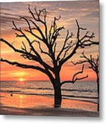 Charleston South Carolina Edisto Island Beach Sunrise Metal Print