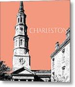 Charleston St. Phillips Church - Salmon        Metal Print