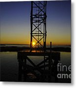 Charleston Water Sunset Metal Print