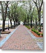 Charleston Waterfront Park Walkway Metal Print